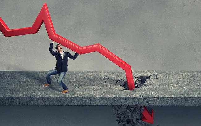 """""""Thủng đáy"""", Vn-Index về mức thấp nhất trong hơn 1 năm"""